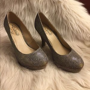 Silver / gold heels-  Unlisted Kenneth Cole